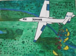 Winning entry, aviation art contest - 3rd place, ages 6-9 - Eleanor Hofford