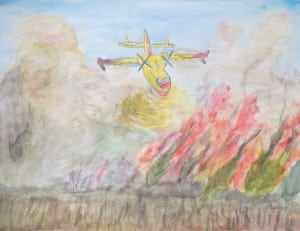 Winning entry, aviation art contest - 1st place, ages 10-13 - Samuel Hofford