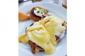 Eggs Benedict at Centre Street Bistro