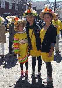 Teens at Nantucket Daffodil Festival