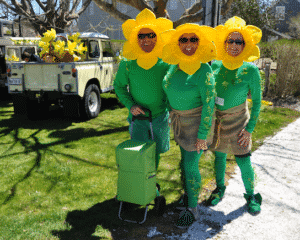 Family at Nantucket Daffodil Festival