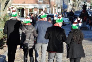 Hats during Nantucket Christmas Stroll