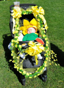 Baby in Nantucket Daffodil Festival Parade