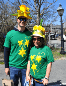 Daffy Hat Couple on Nantucket