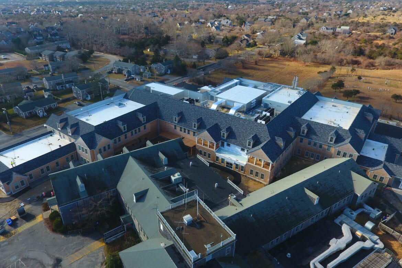 Aerial of Nantucket Cottage Hospital