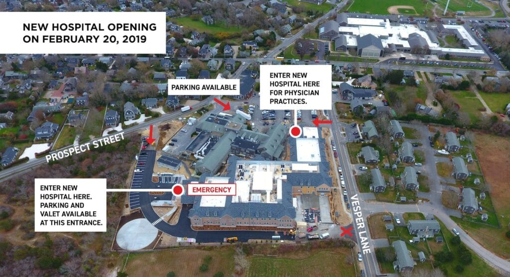 Patient Access Map for New Nantucket Hospital