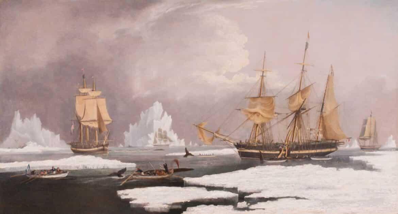 Huggins Painting of Nantucket History