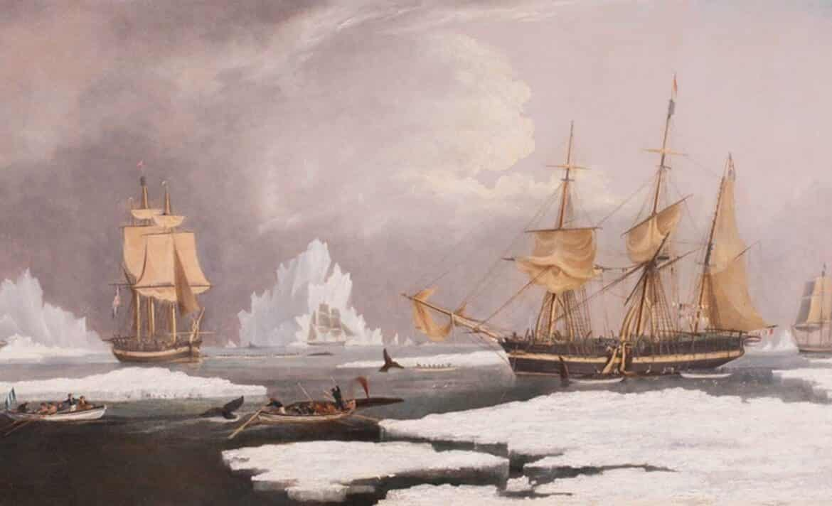 Huggins Painting of Nantucket History