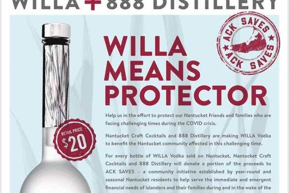 Cisco Brewers Willa Vodka Nantucket