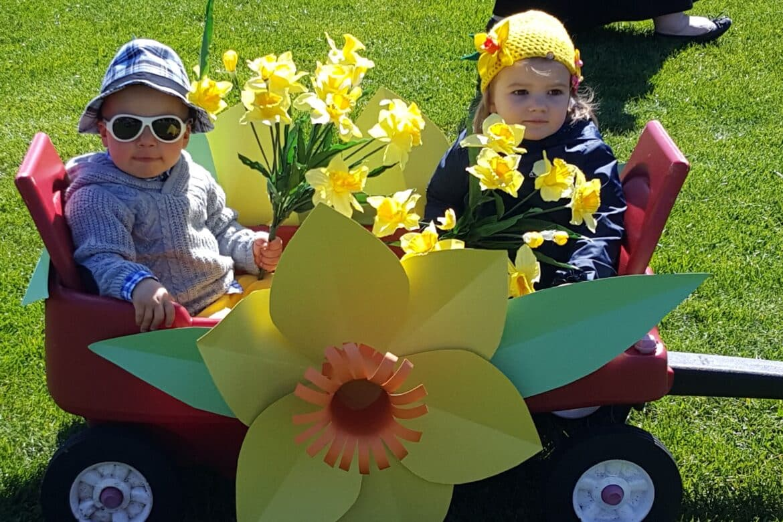 Children in Nantucket Daffodil Festival